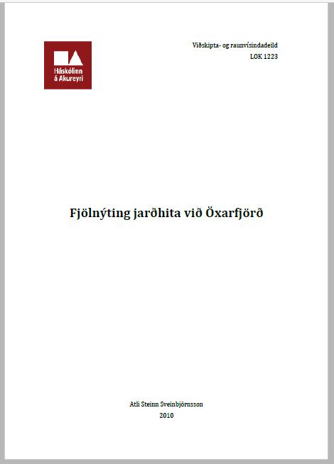Fjolnyting jardhita Oxarfjord