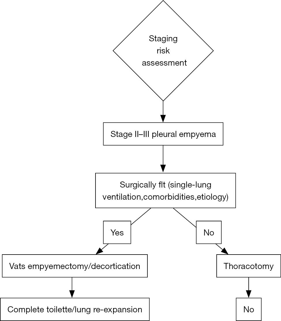 medium resolution of figure 1 flow chart for vats approach in pleural parapneumonic empyema vats video assisted thoracoscopic surgery
