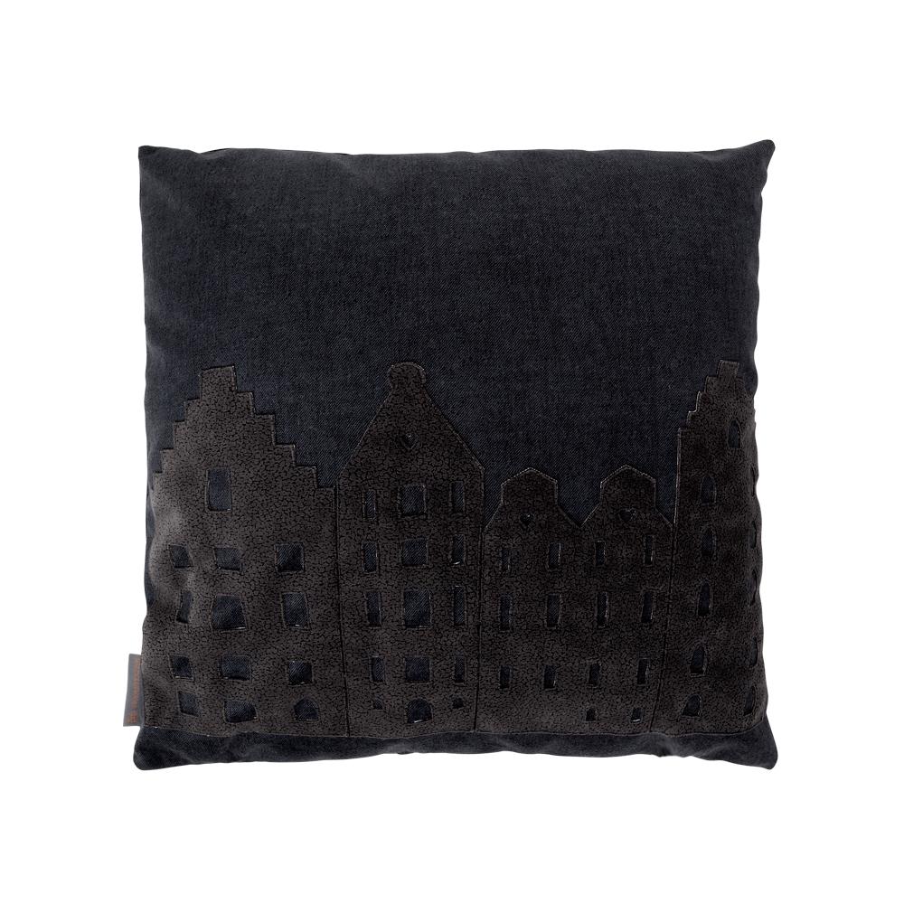 Amsterdam City Pillow  Medium  CharcoalCharcoal