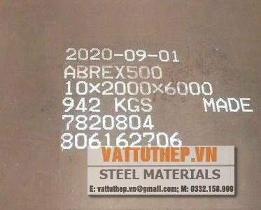 Thép tấm chịu mài mòn Abrex 400 450 500 600 Abrasion resistant plate