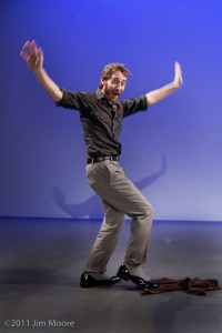 Josh Bisker cleans up the floor with his spats and style at Bindlestiff Open Stage