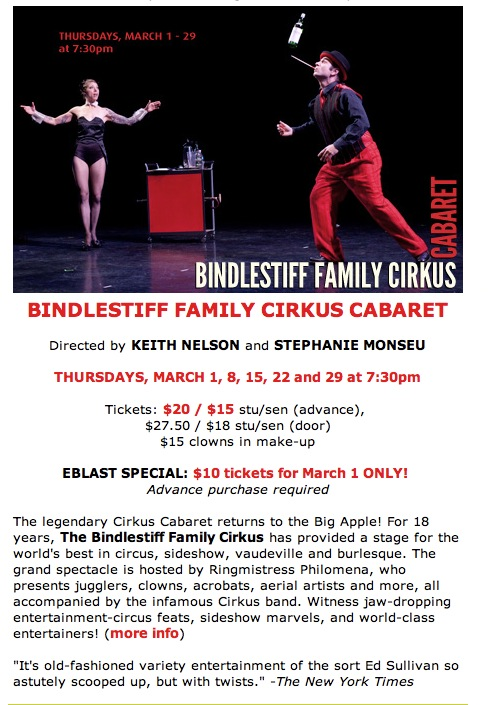 Bindlestiff Family Cirkus at Dixon Place