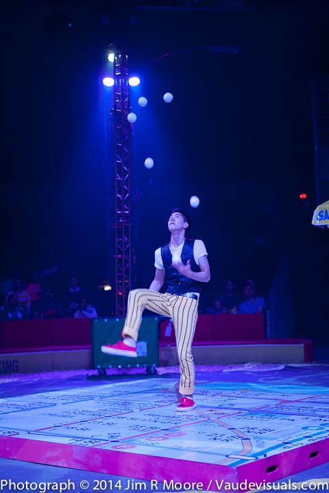 Ty Tojo juggles amazingly.