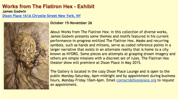 The Flatiron Hex - Exhibit at Dixon Place