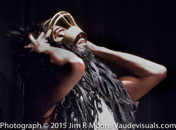 Monstah Black performs a wild costumed piece.