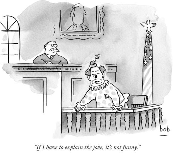 Eckstein--explain humor