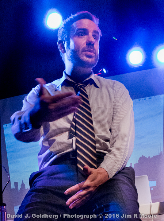 David J Goldberg performing at FringeNYC 2016