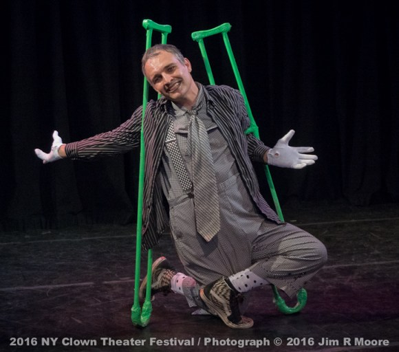 Bill Shannon performing at the 2016 NY Clown theater Festival