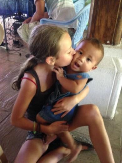 Daniel kissing