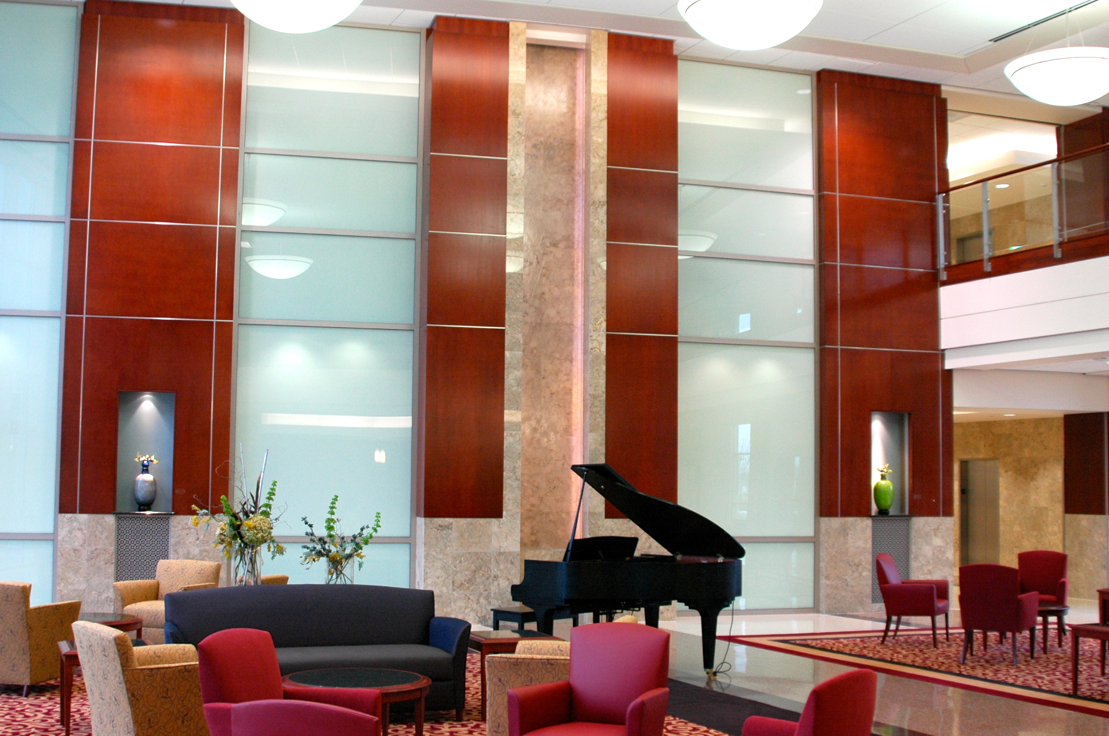 Architectural Panels in Hospital Lobby  Vaughn Interior