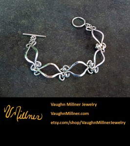 Curved Chain Sterling Bracelet