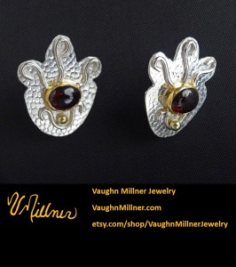 Sterling Queen Earrings with Garnets