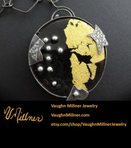 Worldview Enamel and Gold Pendant