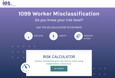 Risk Calculator - Screen Shot of Landing Page