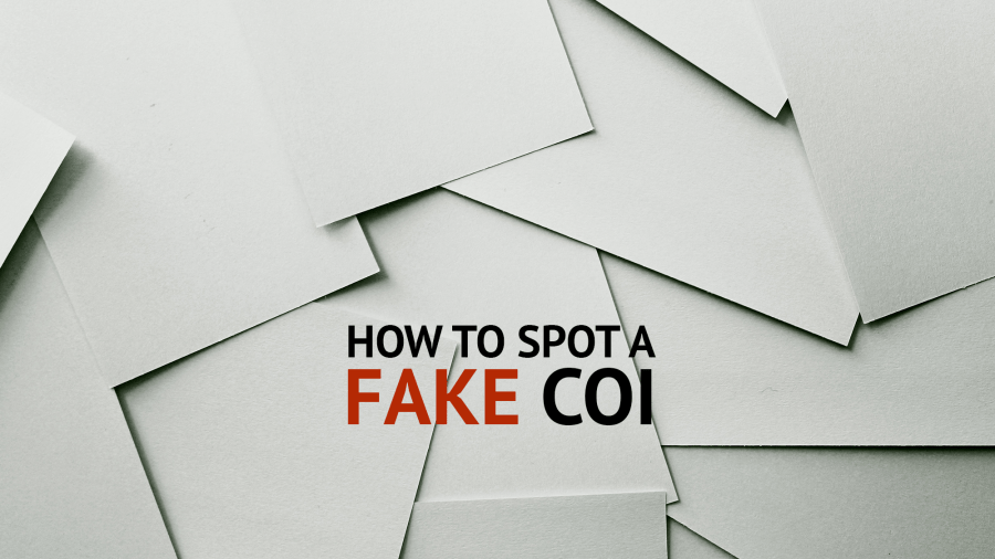 How to Spot a Fake COI