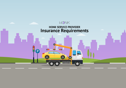 Insurance requirements for roadside assistance and towing providers working with Honk