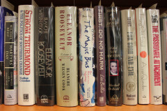 Some of the 801 volumes that are part of the Brian Lamb Booknotes Collection, George Mason University Libraries, Special Collections & Archives.