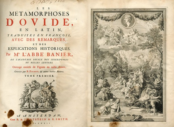 Ovid, Les Metamorphoses , PA6523 .M2 B35 1732b v.1, Special Collections Research Center.