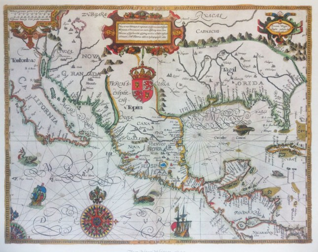 The New World Reproduction of map from 1600. Charles Harrison Mann Collection # C0213, Folder 89, Special Collections Research Center, George Mason University Libraries.
