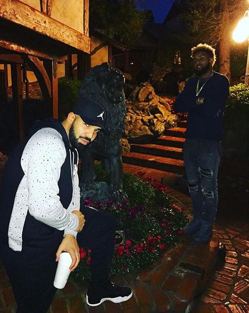Drake and Odell Beckham Jr.