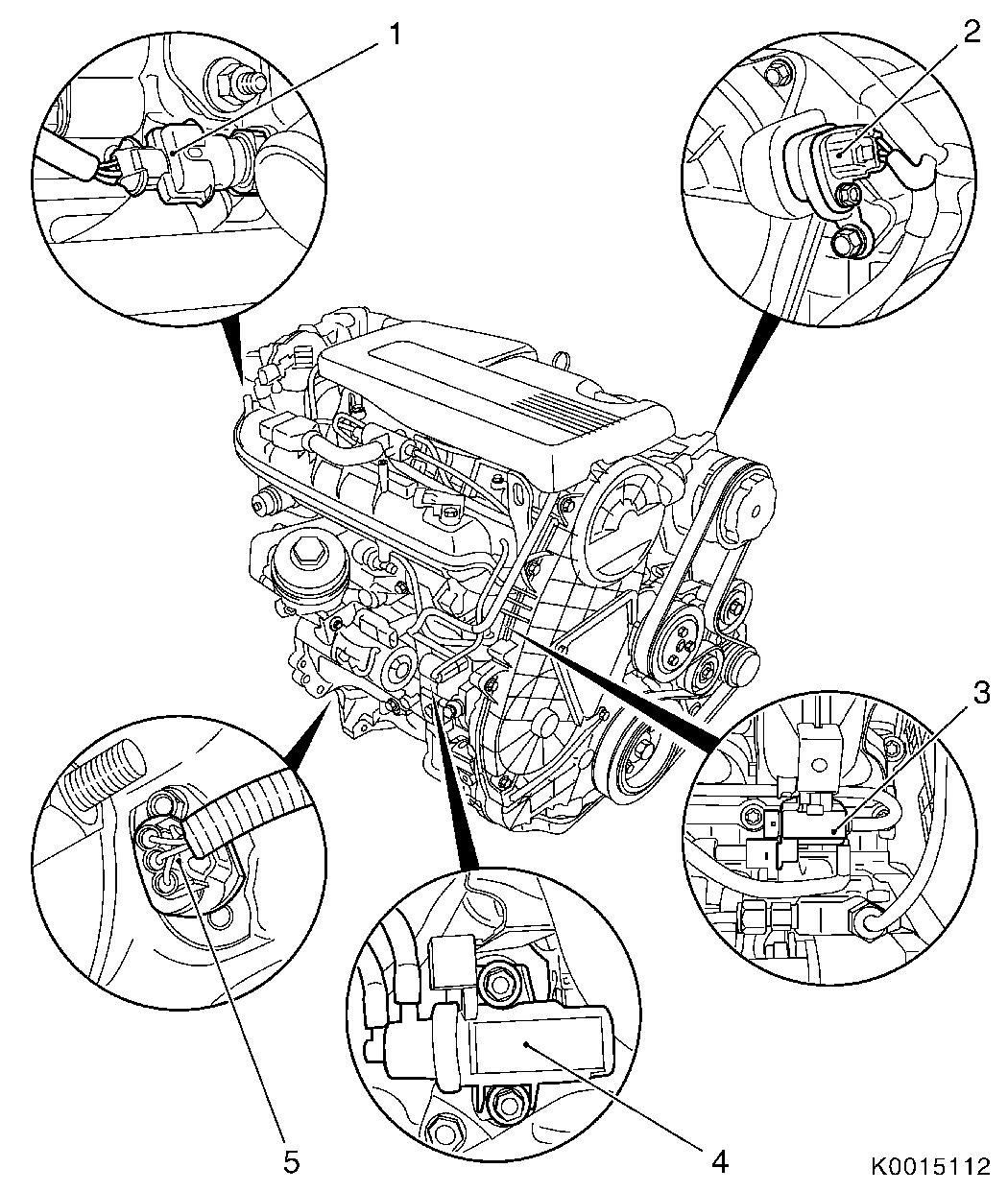 Vauxhall Workshop Manuals Gt Corsa D Gt J Engine And Engine