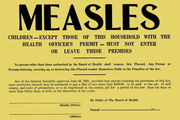 Part of your protocol to stop measles will be making sure th unvaccinated children exposed to measles are quarantined for at least 21 days.