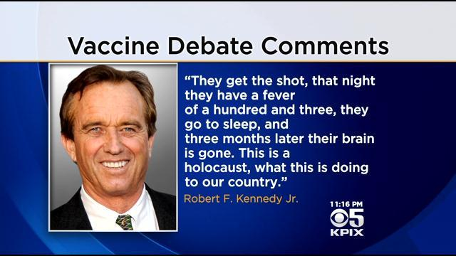 RJK, JR has made a number of outrageous claims about vaccines and autism.