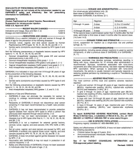 The highlights of prescribing information of the package insert offers a nice summary of each section, with more details in the full prescribing information section that follows.
