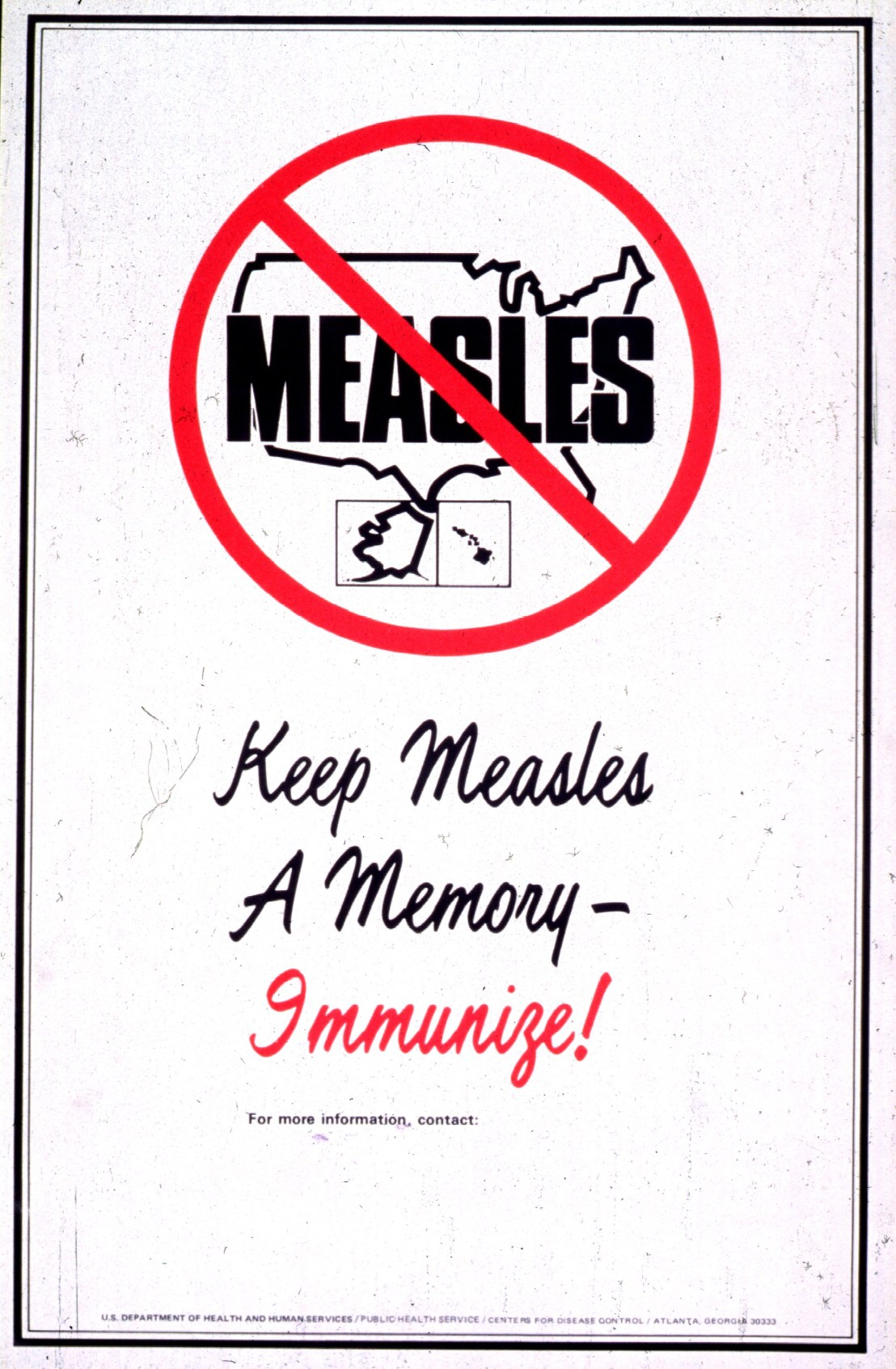 Keep Measles a Memory poster.