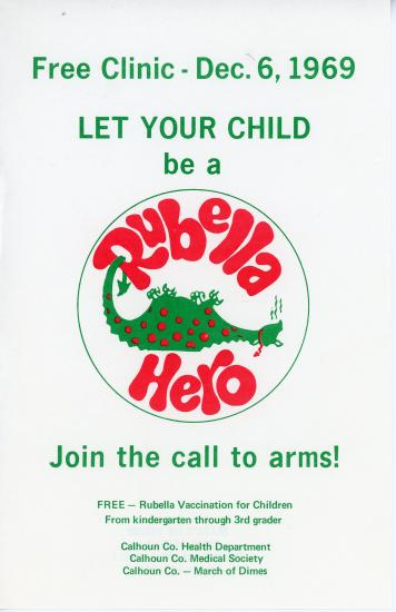 Let your child be a rubella hero