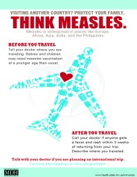 Vaccine preventable diseases are just a plane ride away.