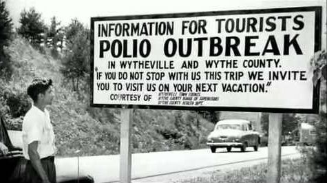Because polio outbreaks often came in summer months, some folks thought the virus must be spread at swimming pools, so they were often closed. It didn't help... Correlation did not equal causation.