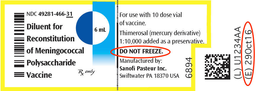 The Menomune vaccine has been discontinued, but this label is a good example of things to check before giving a vaccine.