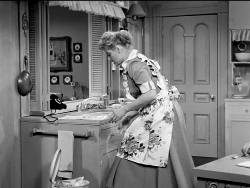 In 1951, during the first season of I Love Lucy, you can see that they had indoor plumbing. Surprised?