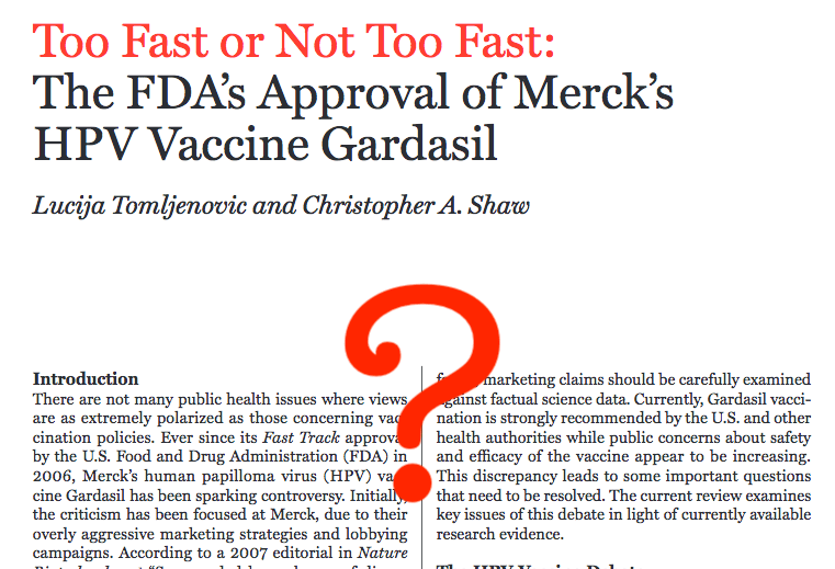 Vaccine fast tracking doesn't mean that a vaccine gets approved too fast.