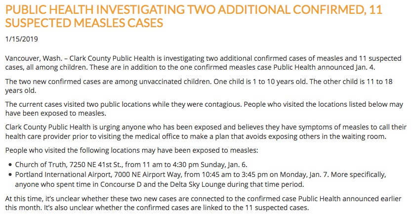 The Clark County measles outbreak quickly grew.