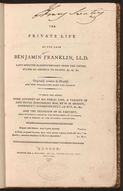 Benjamin Franklin wrote about his son who died of smallpox in his autobiography.