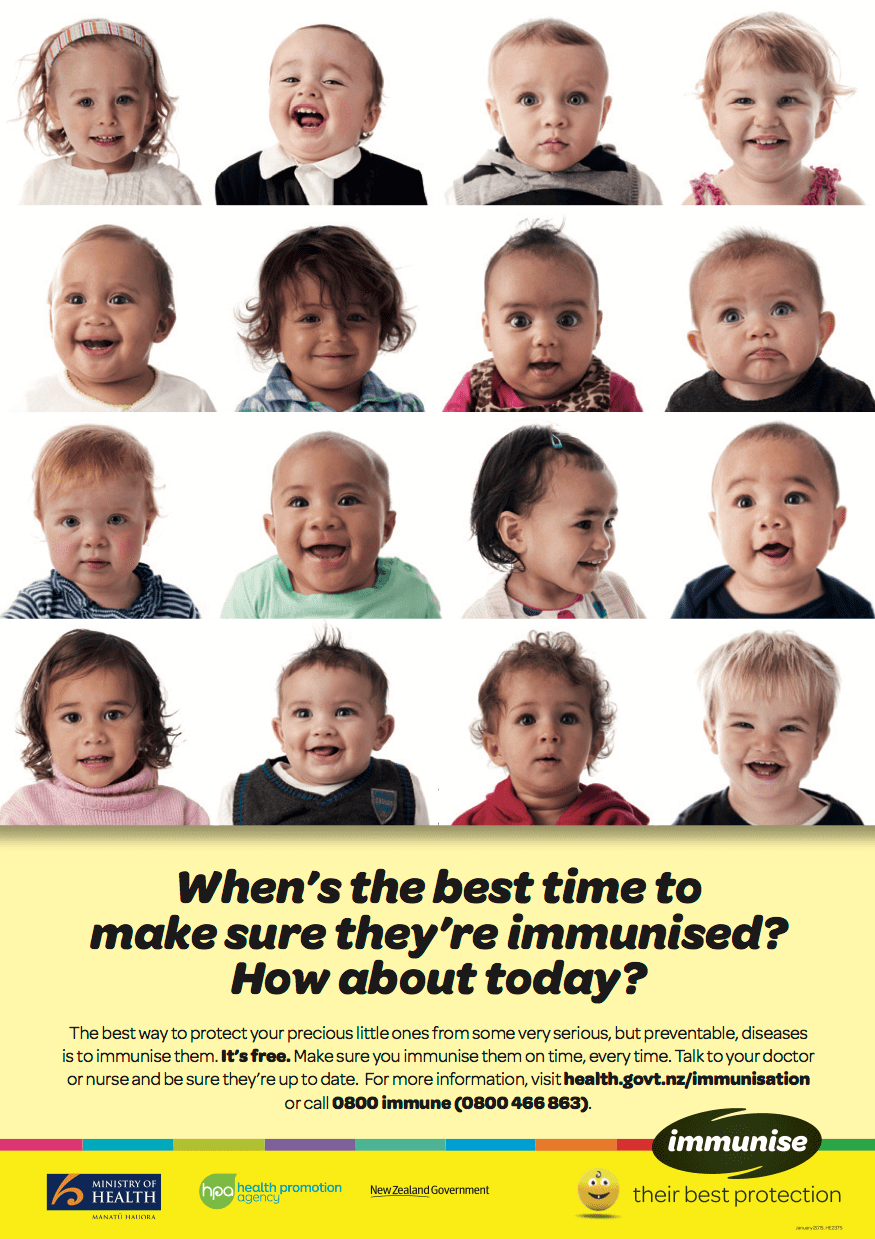 In New Zealand, they know the best time to vaccinate and protect their kids - today!
