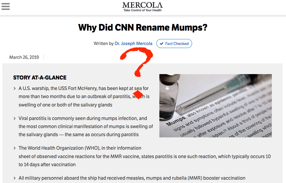 """Simply saying that your article is """"Fact Checked"""" doesn't make it so..."""