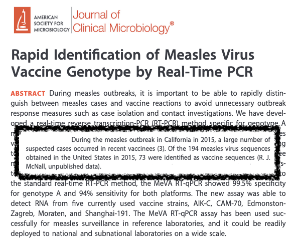 This isn't a study about vaccine-associated measles...
