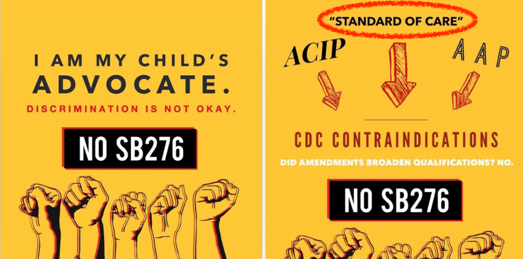 Why are these advocating against keeping kids protected against life-threatening vaccine-preventable diseases?