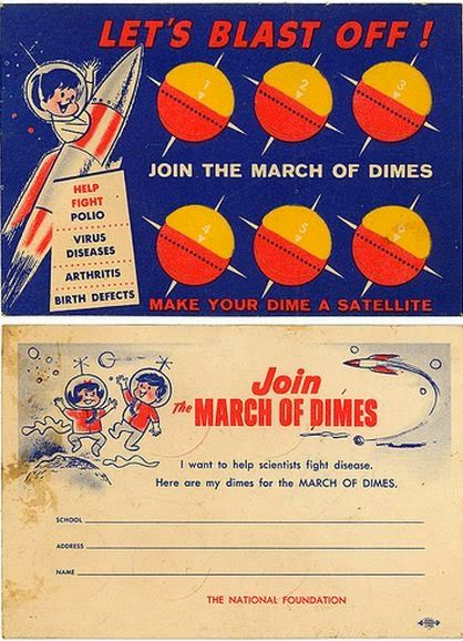The March of Dimes helped fund the initial research into preventing and treating polio.