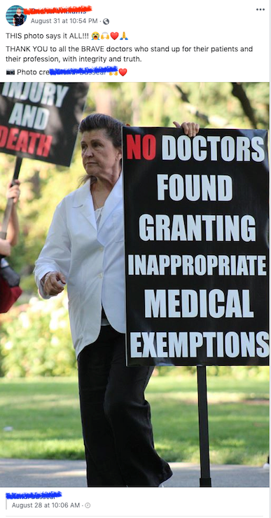 No doctors have been found guilty of granting inappropriate medical exemptions? What about Bob Sears?
