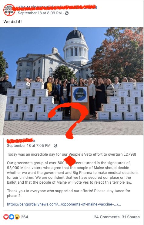 A bold response to a new vaccine law - trying to get it overturned.