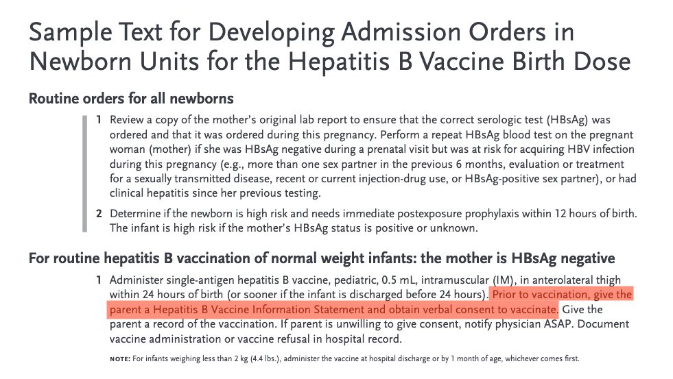 Even with standing orders, you still have to get informed consent before giving a vaccine.