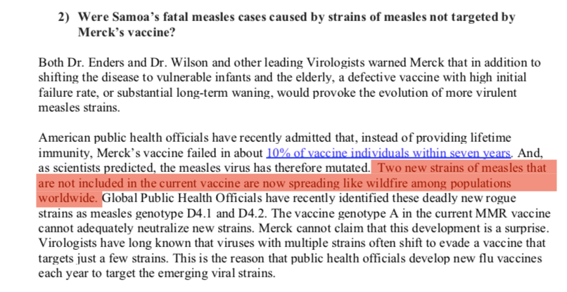 Mutating strains of measles are not spreading like wildfire.
