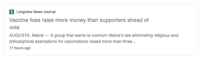 Anti-vax groups are raising money in Maine and elsewhere to influence parents and politicians and new vaccine laws.
