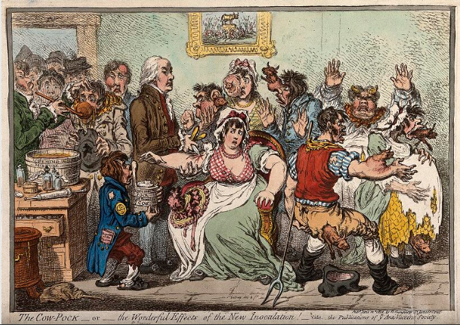 The Cow Pock is an etching by James Gillray.