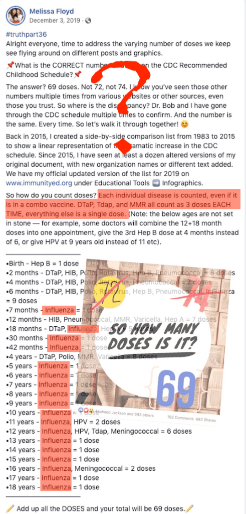 Is it 69 or 72? Anti-vax folks can't even agree on how to inflate the vaccine dose count...