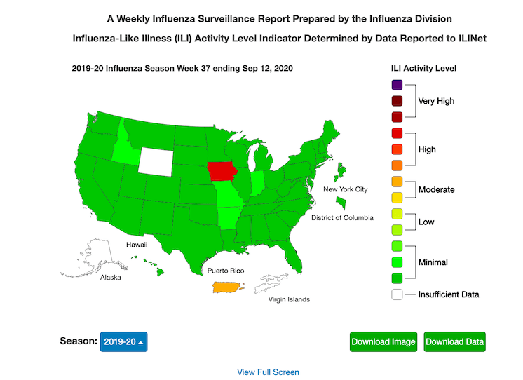 Why is Iowa reporting a high level of influenza-like illness activity already?